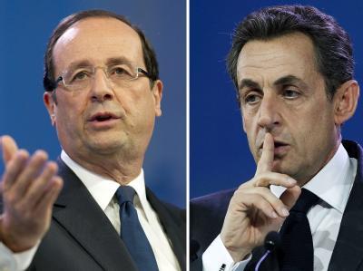 Francois Hollande und Nicolas Sarkozy