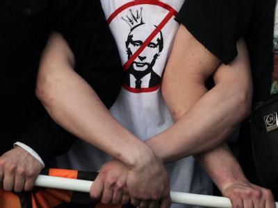 Protest gegen den Wiederantritt von Wladimir Putin als Präsident im Mai 2012. Foto: Sergei Ilnitsky/Archiv