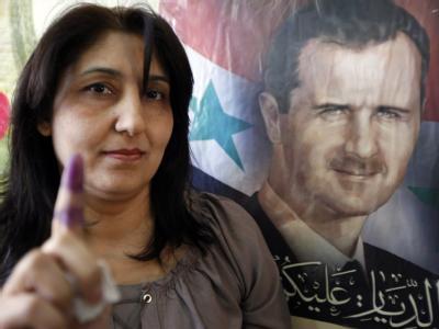 Das Informationsministerium nannte den Wahltag in Syrien einen «außergewöhnlichen Tag». Foto: Nabil Mounzer