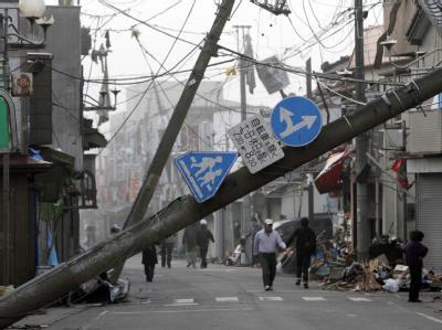 Die Stadt Tsukuba nördlich von Tokio wurde am heftigsten vom Tornado getroffen. Foto: Kimimasa Mayama