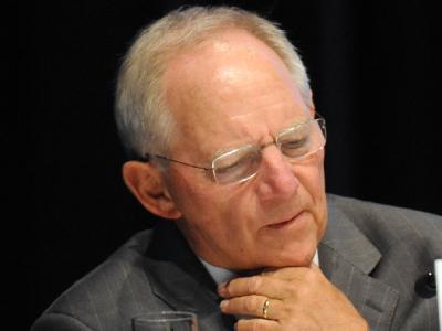 Bundesfinanzminister Wolfgang Schäuble (CDU) warnt  die griechischen Parteien vor einer Wählertäuschung in Zusammenhang mit dem Euro. Foto: Maurizio Gambarini