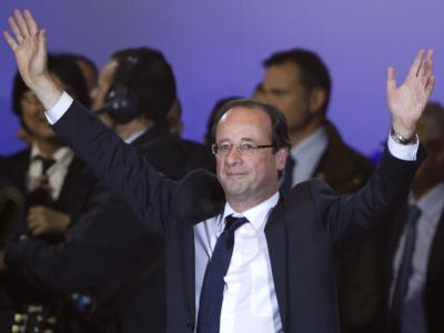 Frankreichs künftiger Präsident: Der Sozialist Francois Hollande. Foto. Ian Langsdon