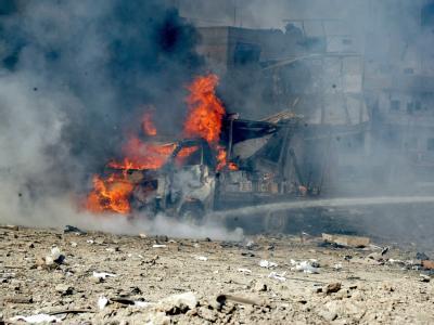 In der syrischen Hauptstadt Damaskus ist es zu einem Sprengstoffanschlag gekommen. Bis zu 70 Menschen kamen dabei ums Leben. Foto: Sana