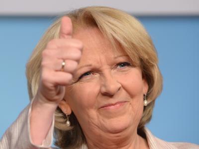 SPD-Spitzenkandidatin Hannelore Kraft jubelt. Foto: Federico Gambarini