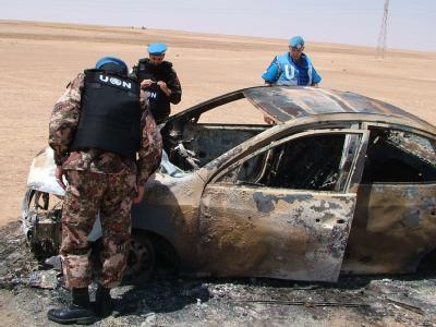 UN-Beobachter in Syrien: Auch Deutschland will sich jetzt an der Mission beteiligen. Foto: Sana