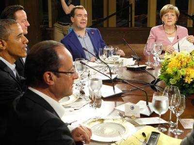 Monti, Obama, Cameron, Medwedew und Merkel