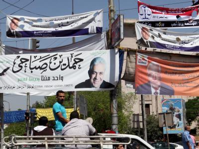 Wahlplakate in Kairo. Foto: Khaled Elfiqi/Archiv