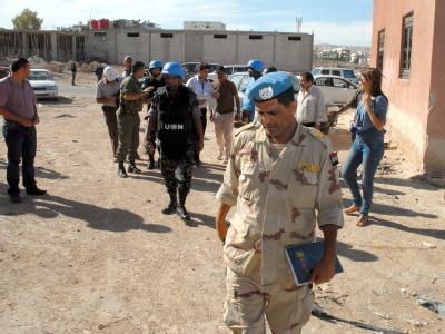 UN-Beobachter in Syrien  Foto: EPA/SANA
