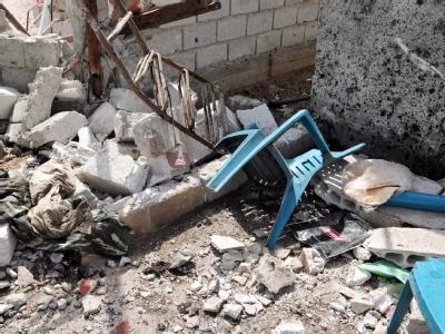 Zerstörung in Damaskus