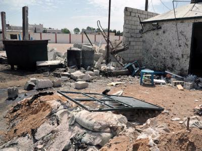 Kein Ende der Kämpfe in Syrien: Zerstörungen in einer Vorstadt von Damaskus. Foto: SANA/ Archiv
