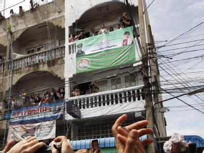 Aung San Suu Kyi wird in Thailand gefeiert. Foto: Barbara Walton