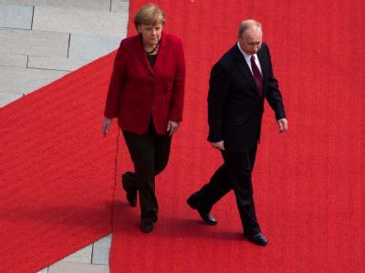 Merkel empf�ngt Putin