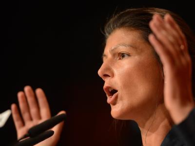 Sahra Wagenknecht ist als Vize-Vorsitzende im Amt bestätigt worden. Foto: Jochen Lübke