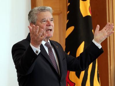 Bundespräsident Joachim Gauck hat wegen der Milliardenausgaben für die Förderung erneuerbarer Energien davor gewarnt, die Energiewende per Planwirtschaft umzusetzen. Foto: Wolfgang Kumm
