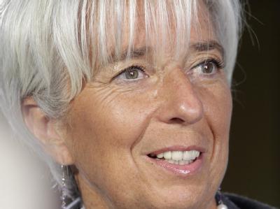 IWF-Chefin Christine Lagarde hat einen Sechs-Punkte-Plan zur Stabilisierung der Euro-Zone vorgestellt. Foto: Valda Kalnina/Archiv