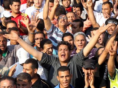 Protest gegen Ex-Präsident Mubarak und seine Helfer auf dem Tahrir-Platz in Kairo. Foto: Khaled Elfiqi