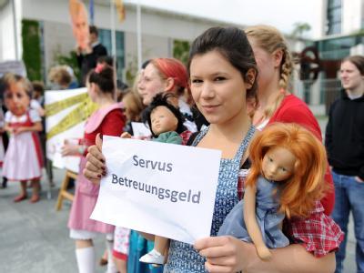 Protest gegen Betreuungsgeld