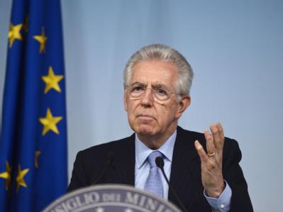 Italiens Ministerpräsident Monti sorgt sich um den Zusammenhalt Europas. Foto: Guido Montani