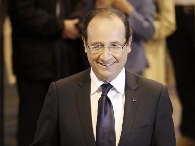 Gute Voraussetzungen für Präsident Hollande: Das linke Lager liegt nach der ersten Wahlrunde zur Nationalversammlung vorn. Foto: Guillaume Horcajuelo