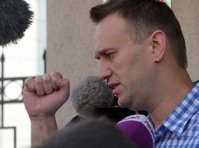 Oppositions-Aktivist vor Befragung