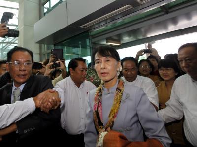 Aung San Suu Kyi besucht nach 15 Jahren Hausarrest Europa. Foto: Nyein Chan Naing