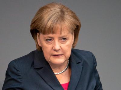 Bundeskanzlerin Merkel während der Regierungserklärung zum kommenden G20-Gipfel. Foto: Tim Brakemeier