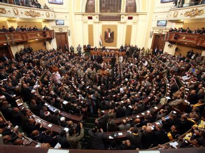 Parlament in Kairo: Das ägyptische Verfassungsgericht hat den Ablauf der Parlamentswahl für ungültig erklärt. Foto: Khaled Elfiqi