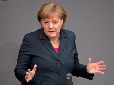 Bundeskanzlerin Merkel warnt vor einer finanziellen Überforderung Deutschlands. Foto: Tim Brakemeier