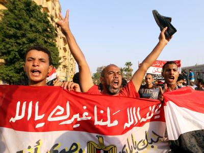 Protestdemonstration auf dem Tahrir-Platz