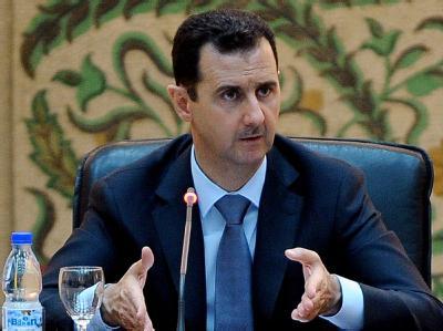 Syriens Präsident Baschar al-Assad sieht sein Land im Kriegszustand. Foto: epa/Syrian News Agency Sana