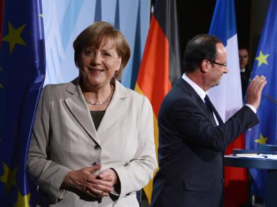 Merkel und Hollande Eurobonds