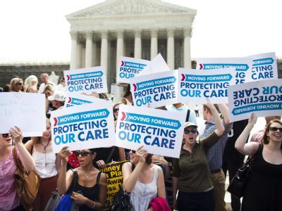Pro-Gesundheitsreform-Demonstranten in Washington