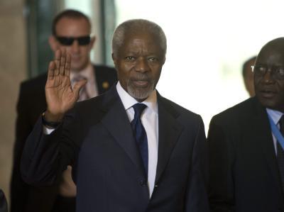 Syrien-Vermittler Kofi Annan hat das Treffen am UN-Sitz in Genf anberaumt. Foto: Martial Trezzini