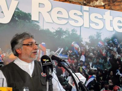 Paraguays abgesetzter Präsident Fernando Lugo hält den Ausschluss des Landes für eine gerechte Strafe. Foto: Andres Cristaldo