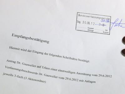 Kurz nach Zustimmung zu Fiskalpakt und ESM gingen die ersten Klagen beim Bundesverfassungsgericht ein. Foto: Uli Deck