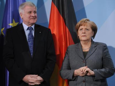 Kanzlerin Merkel (CDU) und Horst Seehofer (CSU)