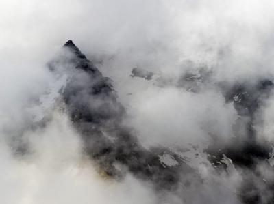 Blick auf das Lagginhorn in den Walliser Alpen. Foto: Jean-Chrostophe Bott