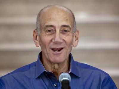 Der frühere Ministerpräsidenten Ehud Olmert ist in einem Anklagepunkt wegen Korruption schuldig gesprochen worden. Foto: Ariel Schalit