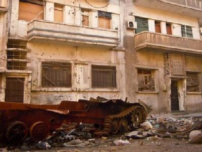 Zerstörtes Gebäude in der syrischen Stadt Homs. Foto: Local Coordination Committes (LCC)/Archiv