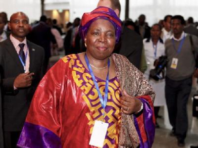 Mit Südafrikas Innenministerin Nkosazana Dlamini-Zuma steht erstmals eine Frau and der Spitze der Afrikanischen Union. Foto: Martin Dixon