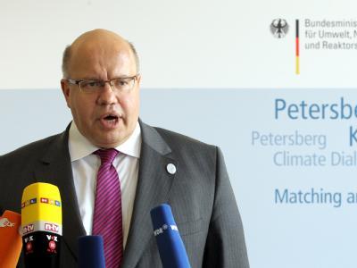 Bundesumweltminister Peter Altmaier ruft zu mehr Einsatz im Kampf gegen die Erderwärmung auf. Foto: Wolfgang Kumm