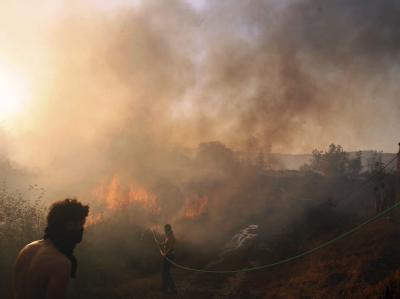 Waldbrände im nordspanischen Molinaseca