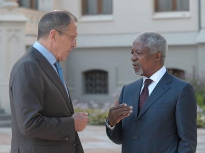 Kofi Annan und Sergej Lawrow