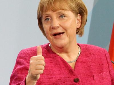 Angela Merkel ist beliebt. Foto: Wolfgang Kumm / Archiv