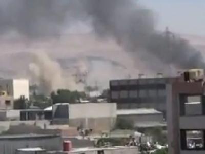 Rauch steigt über Damaskus auf. Foto: Shaam News Network
