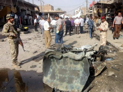 Explodierte Autobombe in Najaf