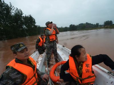 Die Überschwemmungen in China trafen mehr als sechs Millionen Einwohner in 17 Provinzen. Foto: epa/ranwen