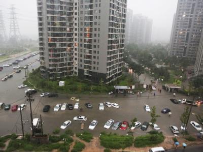Rekordregenfällen in Peking
