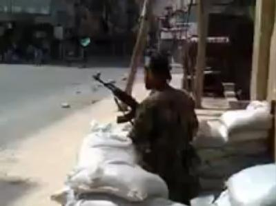 Der Ausschnitt aus einem Video Ugarit News zeigt eine Straßenszene in Aleppo. Foto: Ugarit News