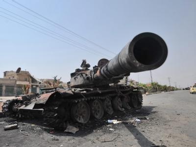 Panzerwrack nahe Aleppo